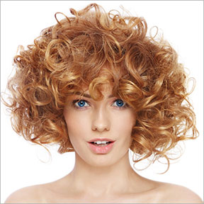 curly hair colours